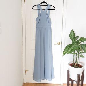 Light blue maxi dress gown